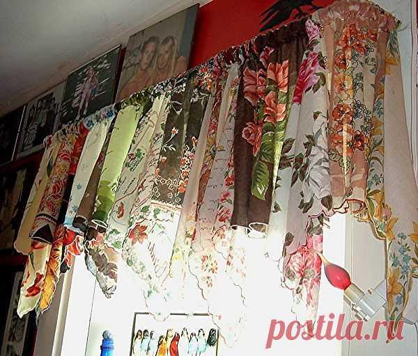 Занавеска из носовых платков / Шторы / Модный сайт о стильной переделке одежды и интерьера