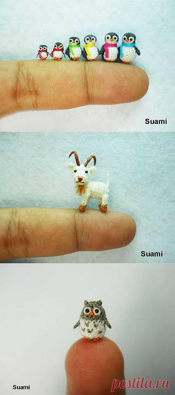 (+1) - Невероятные миниатюрные вещи, связанные спицами и крючком | Хвастуны и хвастушки