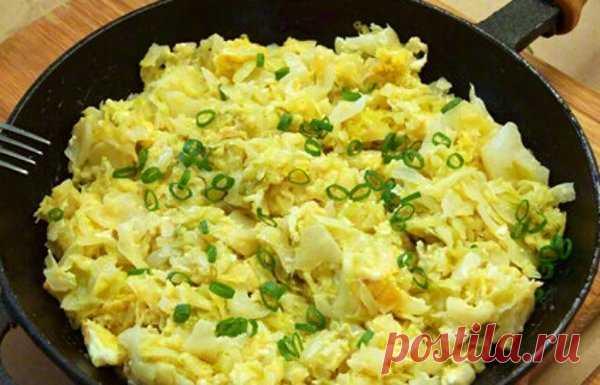 Вкуснейшая жареная капуста с яйцом | Идеи рецептов | Яндекс Дзен