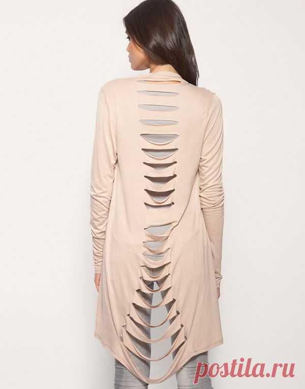 Кардиган ASOS / Прорези / Модный сайт о стильной переделке одежды и интерьера