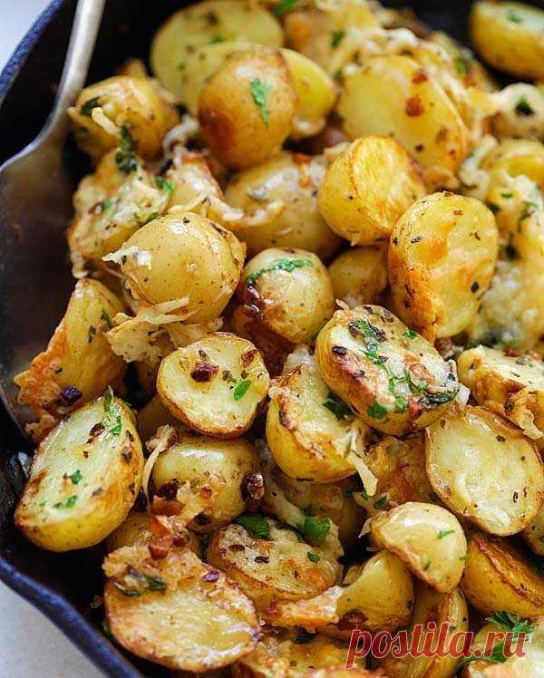 Картошечка, запечённая с итальянскими травами — Sloosh – кулинарные рецепты