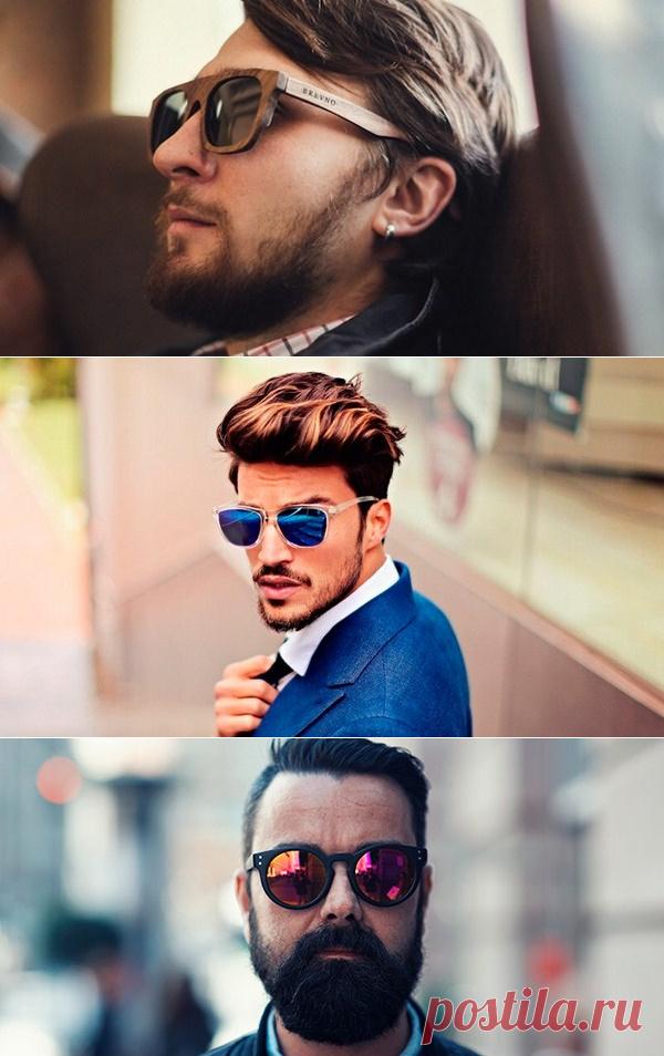 Модные мужские очки 2018-2019 года  50+ фото идей солнцезащитных очков,  новинки 57f16130b98