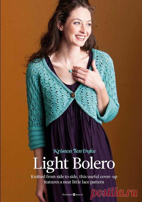 Вязание болеро Light, The Knitter 57