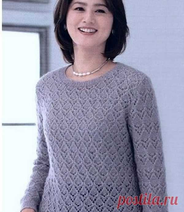 Японские ажурные узоры для пуловеров