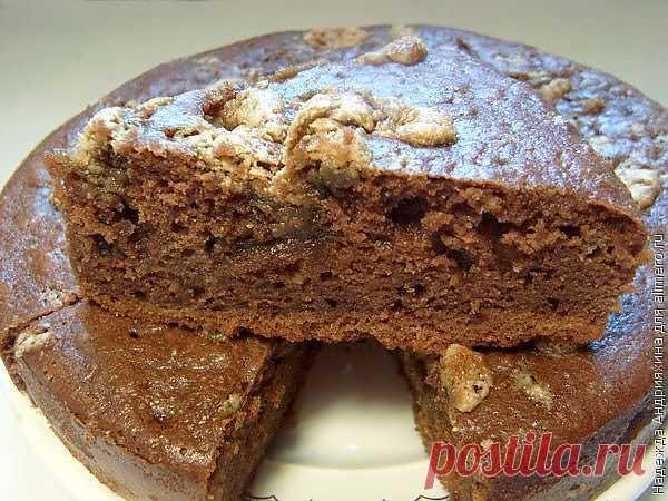 Шоколадный манник с халвой / Рецепты с фото