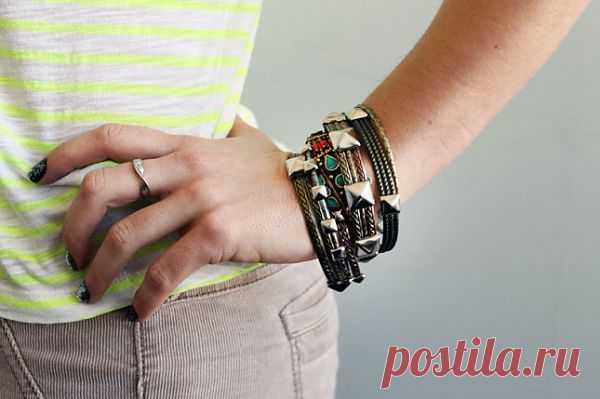 Браслеты с клёпками (DIY) / Украшения и бижутерия / Модный сайт о стильной переделке одежды и интерьера