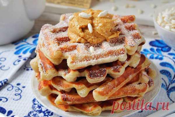 Творожные вафли к завтраку  Идеально к завтраку