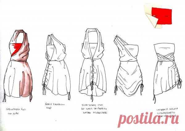 Интересный трансформер - платье / Трансформеры / Модный сайт о стильной переделке одежды и интерьера