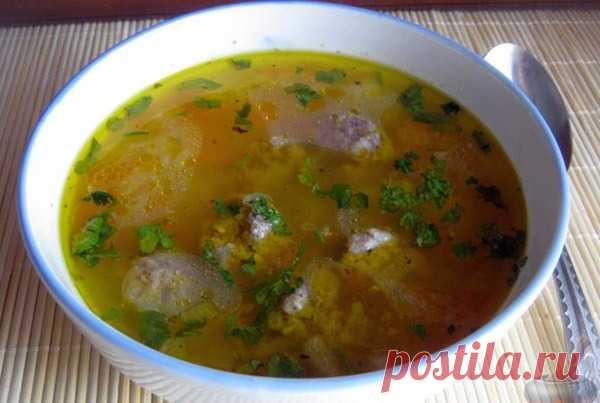 Суп с фрикадельками - Пошаговый рецепт с фото своими руками Суп с фрикадельками - Простой пошаговый рецепт приготовления в домашних условиях с фото. Суп с фрикадельками - Состав, калорийность и ингредиенти вкусного рецепта.