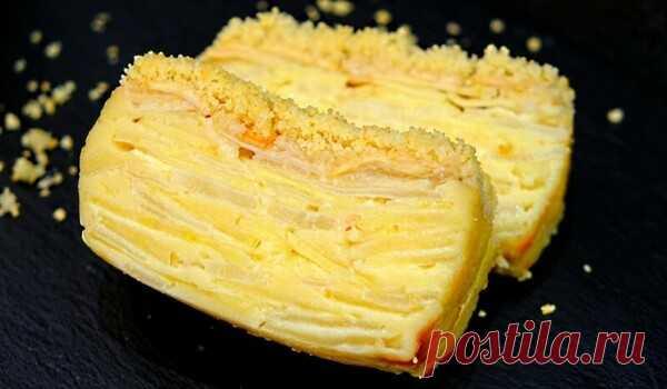 Видите ТЕСТО? При выпечке оно превращается в крем! Пирог «Невидимка» с яблоками и грушами