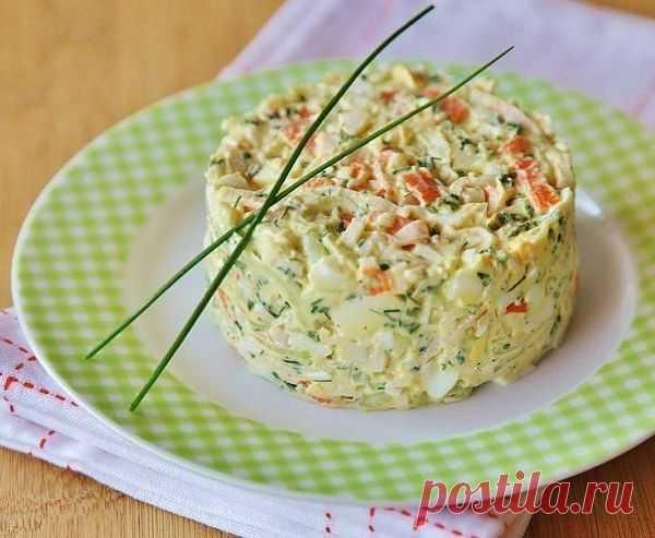 Салат из крабовых палочек с огурцом «Море волнуется раз» кулинарный рецепт с фото от Paragrams