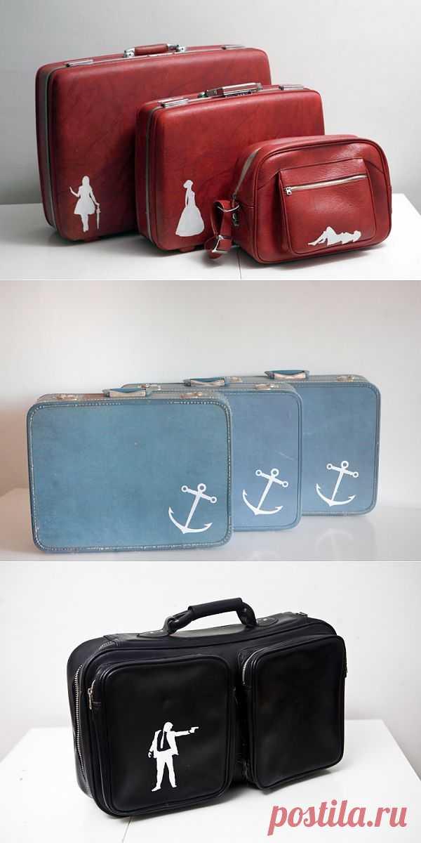 Рисунки на ретро - багаже (трафик) / Сумки, клатчи, чемоданы / Модный сайт о стильной переделке одежды и интерьера