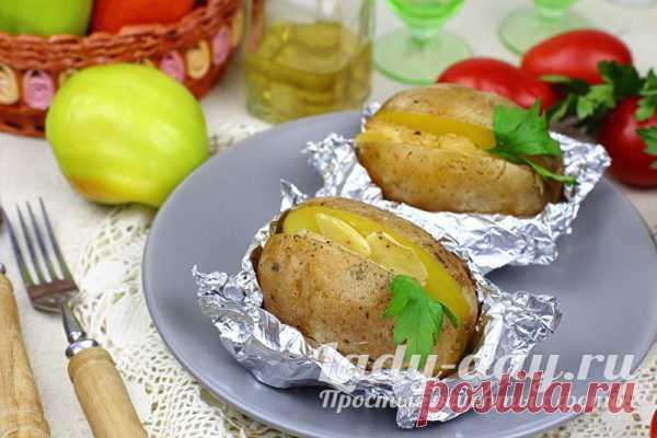 Картошка в фольге с салом в духовке рецепт с фото | Простые рецепты с фото