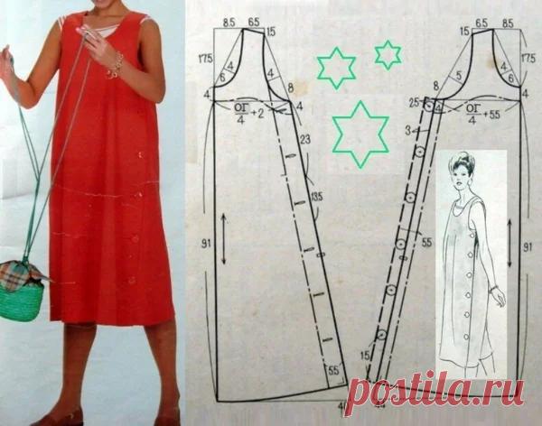 Летнее платье своими руками: Несложные выкройки для начинающих - просто подставьте свои мерки   Швейный омут   Яндекс Дзен