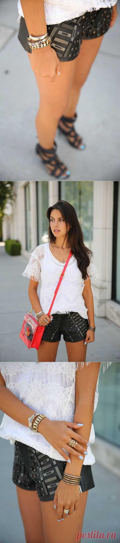 Кожаные шорты... с декором из кожи / Шорты / Модный сайт о стильной переделке одежды и интерьера