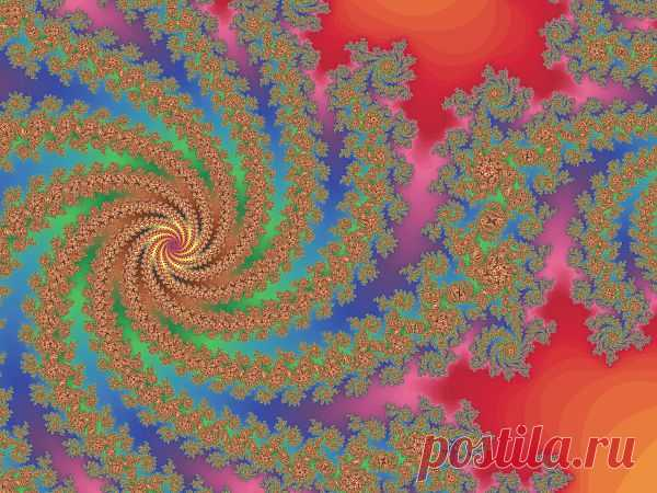 Colored Fractal Spiral  Free Stock Photo HD - Public Domain Pictures