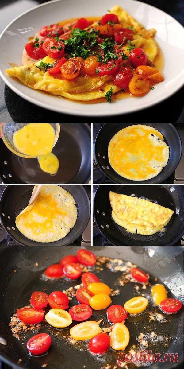 InVkus: Имбирный омлет с помидорами. Пошаговый рецепт с фотографиями