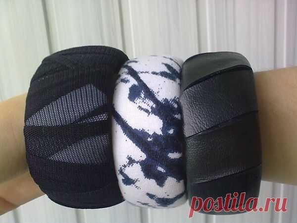 Браслеты с пластиковым основанием / Украшения и бижутерия / Модный сайт о стильной переделке одежды и интерьера
