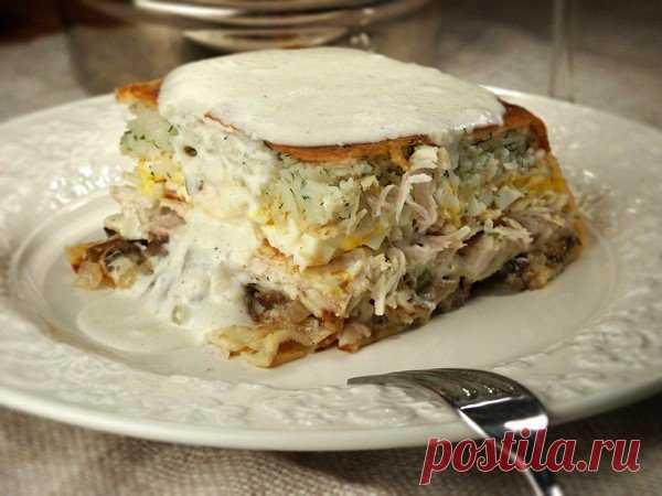 Курник — царский пирог для праздничного обеда    Гости в восторге!          Приготовление: 1. Курицу поставьте вариться. Бросьте в подсоленную воду соль, маленькую луковичку и лавровый листик. Варим долго. Курица должна развариться, чтобы мясо ле…