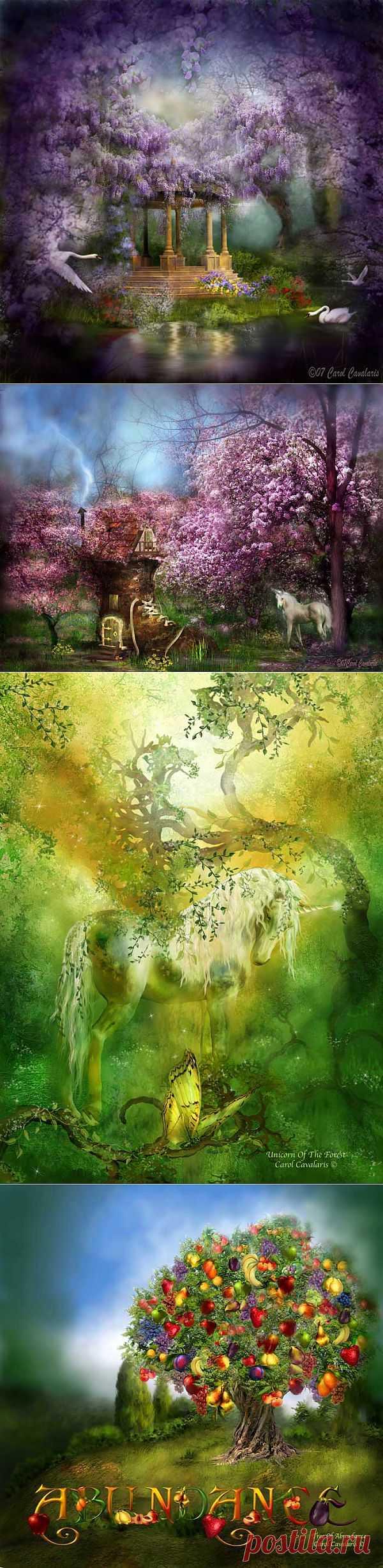Carol Cavalaris.Волшебные сады..