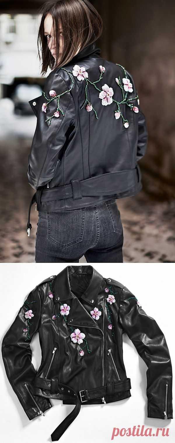 Цветы сквозь асфальт / Курточные переделки / Модный сайт о стильной переделке одежды и интерьера