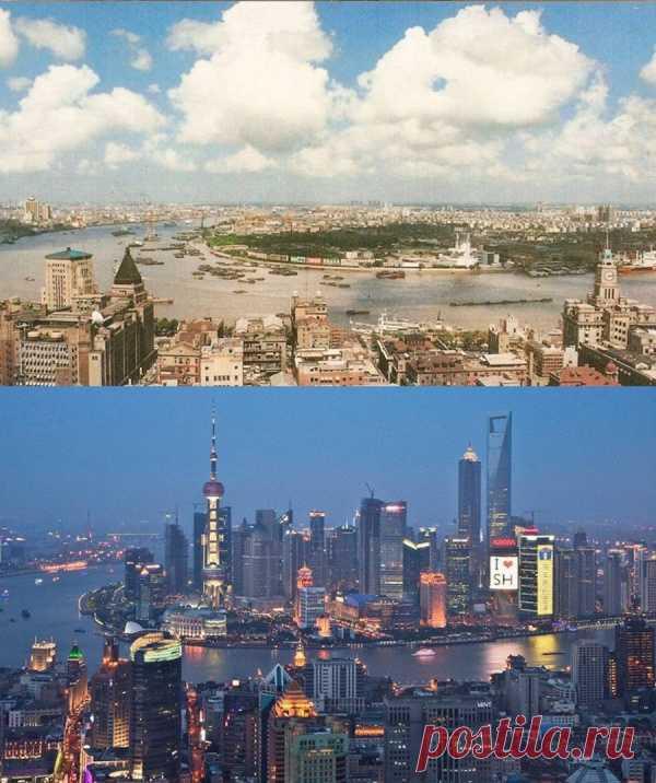 ¡Aquí así los cambios! Shanghai 1990 y 2010, China