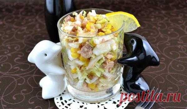Оригинальный салат с тунцом кулинарный рецепт с фото от Queen-Time.Ru
