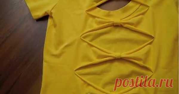 Декор спинки футболки (видео) / Декор спины / Модный сайт о стильной переделке одежды и интерьера
