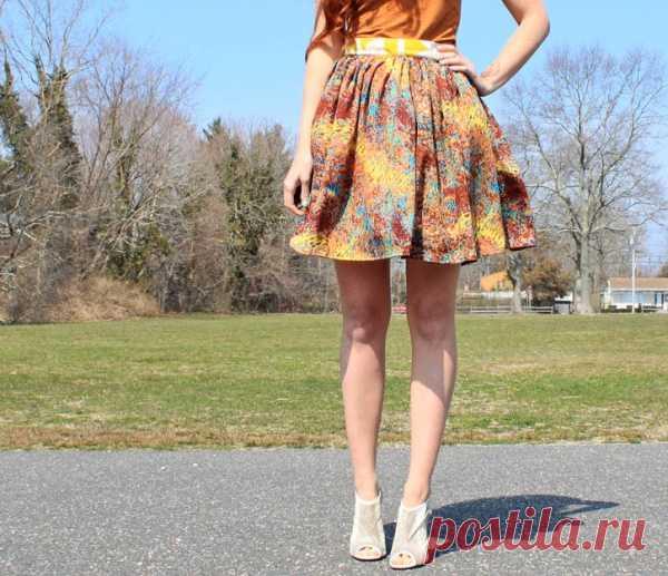 Яркая юбка за 5 минут