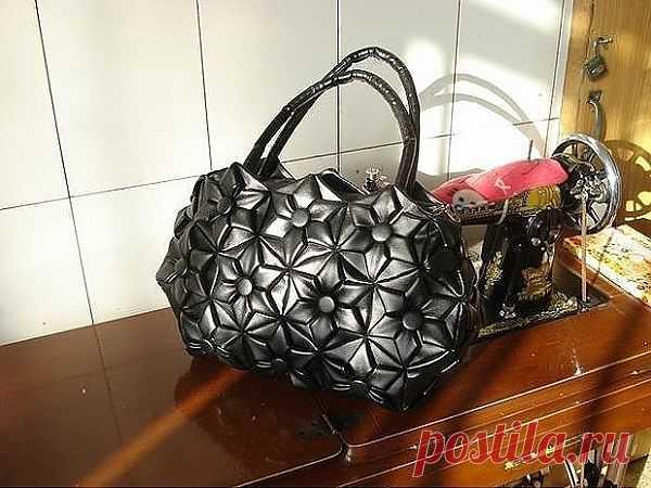 Кожаная сумка-оригами (Diy) / Сумки, клатчи, чемоданы / Модный сайт о стильной переделке одежды и интерьера