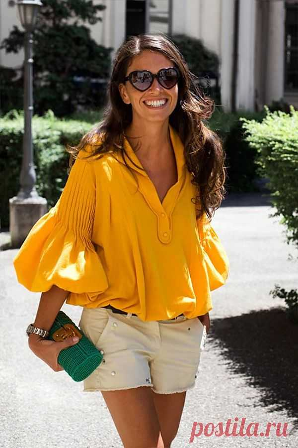 Блузка с интересными рукавами / Street Style / Модный сайт о стильной переделке одежды и интерьера