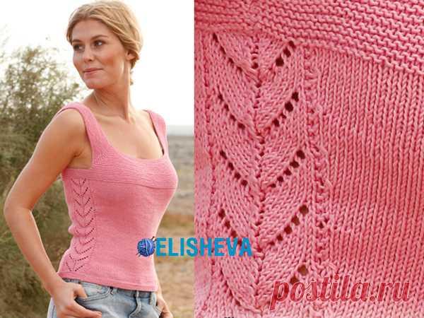 Майка от Drops Design: описание вязания спицами от S до XXXL | Блог elisheva.ru