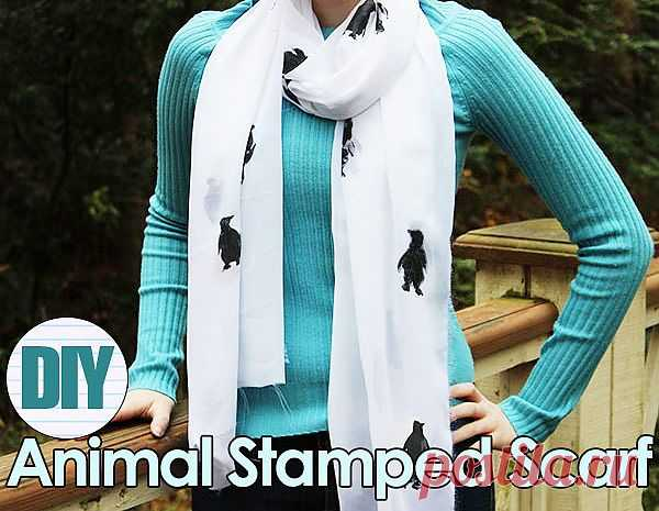 Шарфик с пингвинами / Шарфы / Модный сайт о стильной переделке одежды и интерьера