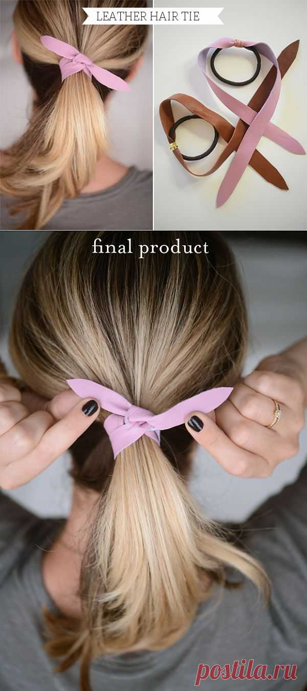 Полоска кожи на волосах (Diy) / Украшения для волос / Модный сайт о стильной переделке одежды и интерьера