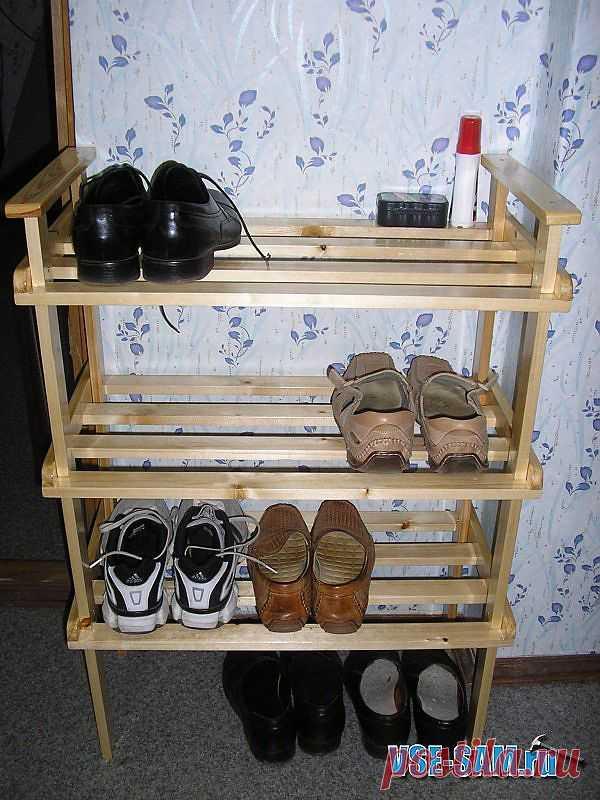 Полка для обуви: сделай сам своими руками
