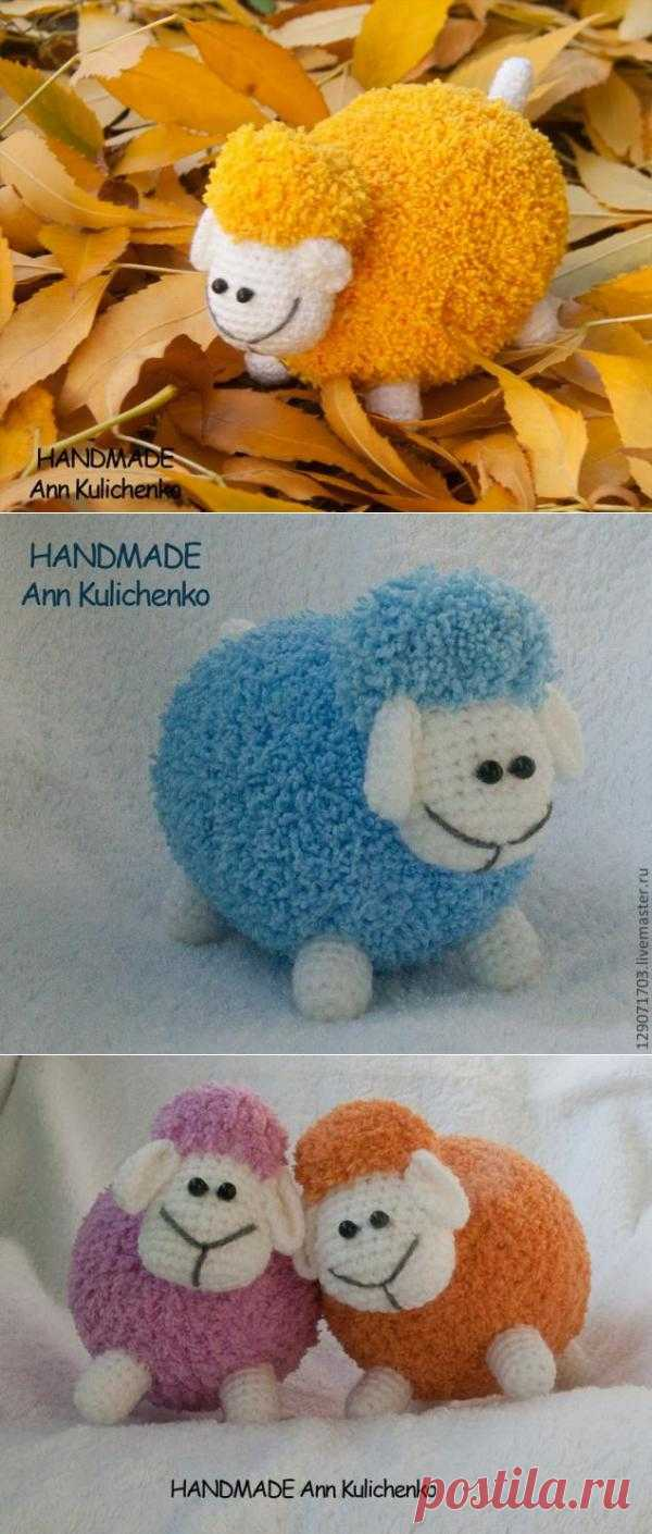 Scheme of knitting of a lamb. Here such mimishny lambs very much were pleasant to me)