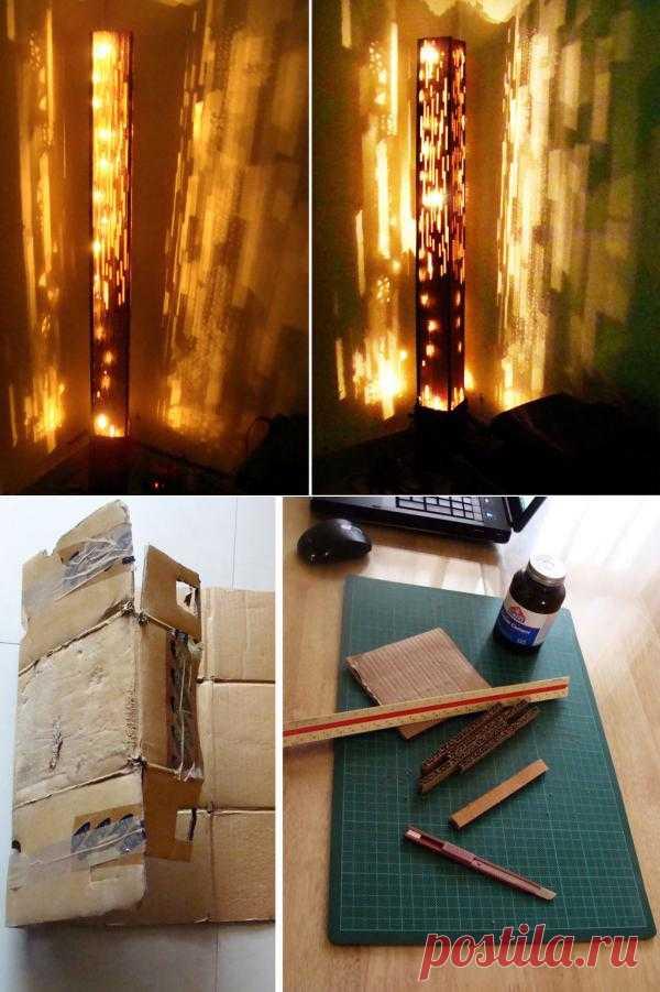 Вот такая, можно сказать мистическая лампа может получиться из вполне доступных и простых материалов.