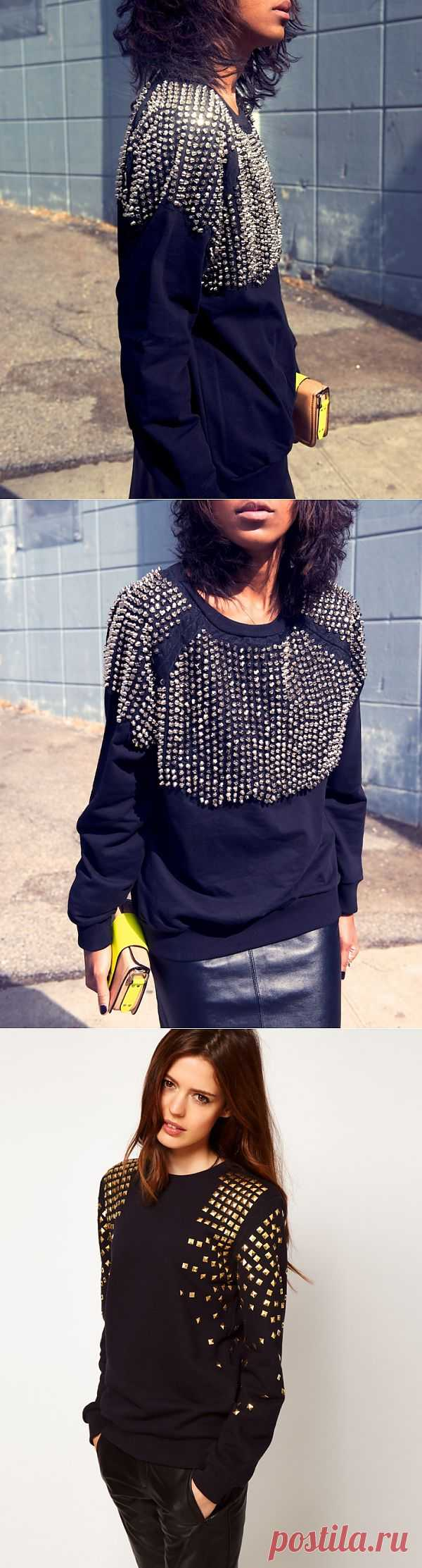 Шипы, заклепки, бусины (подборка) / Свитер / Модный сайт о стильной переделке одежды и интерьера