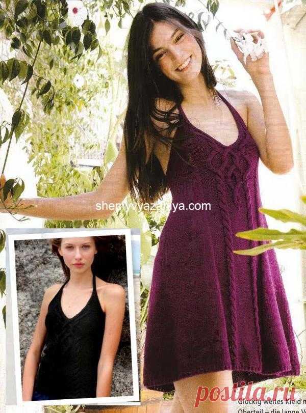 Топ + платье с узором коса.