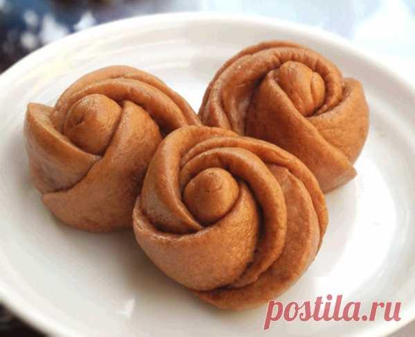 Красивые булочки. Печенье-розы. (Фото-рецепт по клику на картинку).