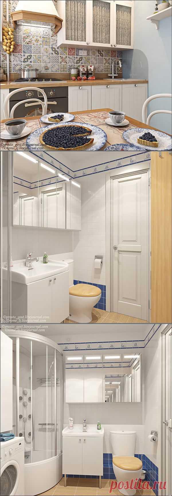 Дизайн однокомнатной квартиры в хрущевке.