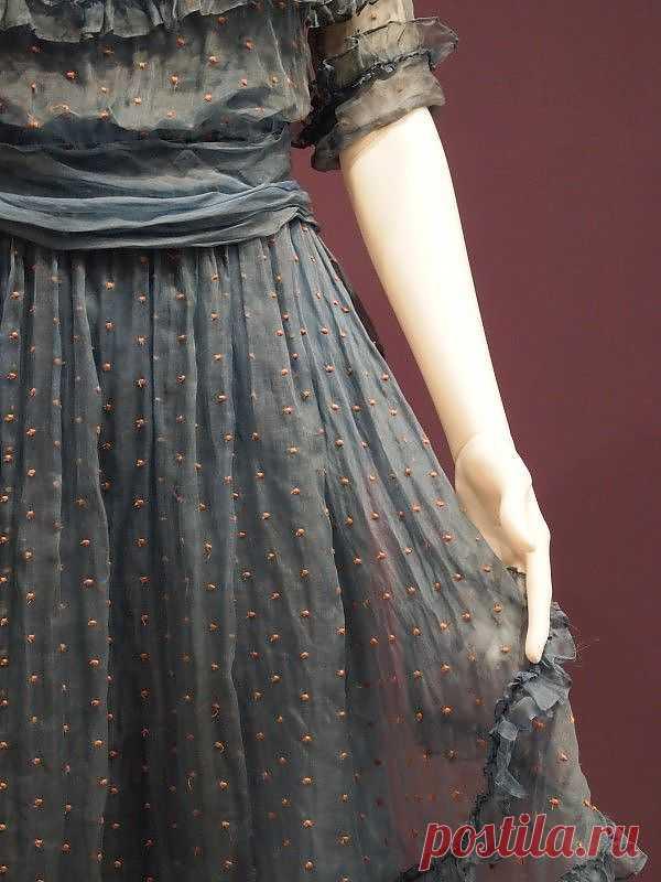 Шифоновое платье с шипиками / Платья Diy / ВТОРАЯ УЛИЦА