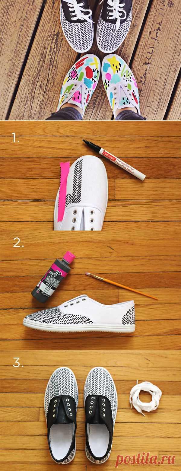 Кеды в елочку (Diy) / Обувь / Модный сайт о стильной переделке одежды и интерьера