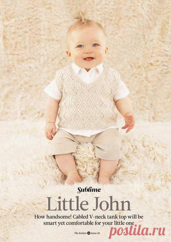Вязание для малышей безрукавки Little John, The Knitter 58