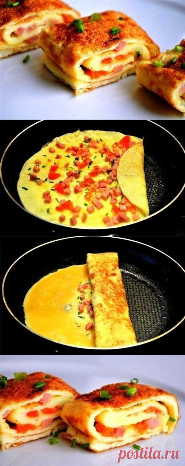 Омлет с ветчиной и сыром (для получения рецепта нажмите на картинку)