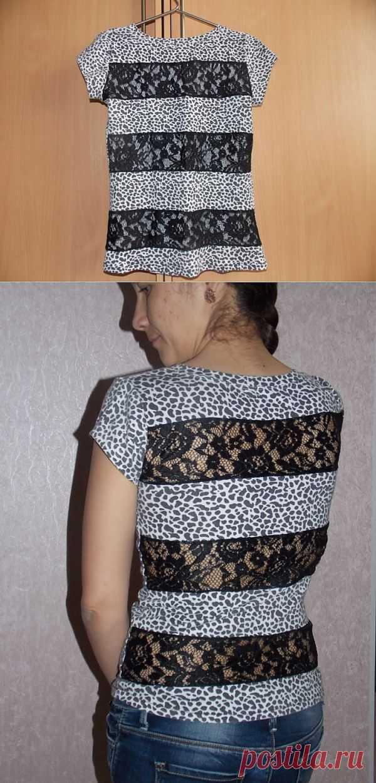 Полоски кружева / Футболки DIY / Модный сайт о стильной переделке одежды и интерьера