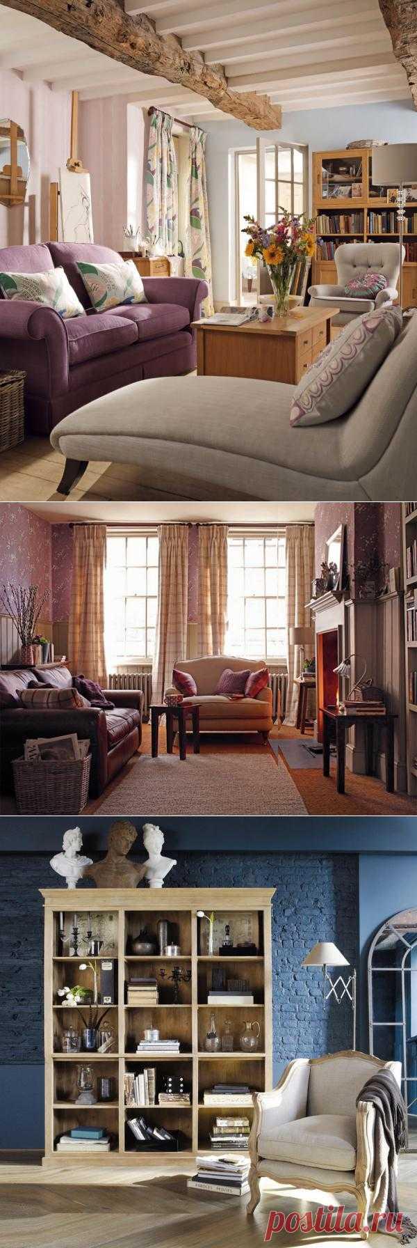 Исторически, камин - обязательный атрибут гостиной в английском стиле, на протяжении веков камину отводилось центральное место в гостиных загородных особняков и замков. Вокруг камина распологаются удобные столики, мягкая мебель, шерстяные ковры на полу.