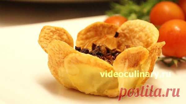 Цветы из картофеля - Видеокулинария.рф - видео-рецепты Бабушки Эммы
