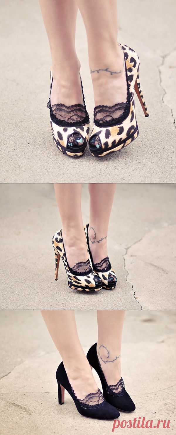 Акцент на следки (мастер-класс) / Обувь / Модный сайт о стильной переделке одежды и интерьера