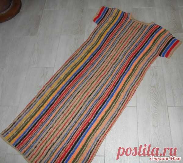 Домашнее полосатое платье. Сама придумала - Вязание - Страна Мам